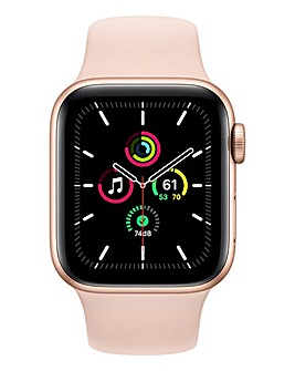 Apple Watch SE 44mm Gold Aluminium Case & Pink Sand Sport Band