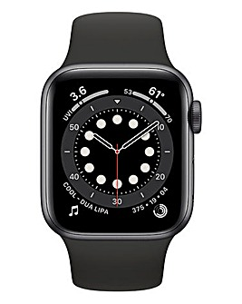 Apple Watch Series 6 40mm Space Grey Aluminium Case & Black Sport Band