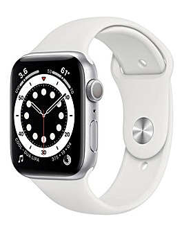 Apple Watch Series 6 40mm Silver Aluminium Case & White Sport Band