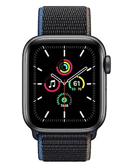 Apple Watch SE Cellular 40mm Space Grey Aluminium & Charcoal Sport Loop
