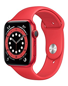 Apple Watch Series 6 Cellular 40mm Red Aluminium Case & Red Sport Band