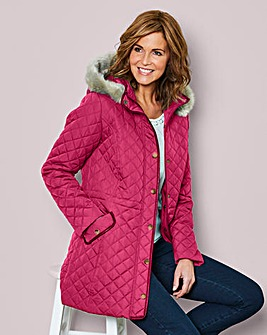 Julipa Berry Fur Trim Parka