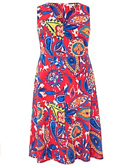 Monsoon Nelly Print Tie Front Dress