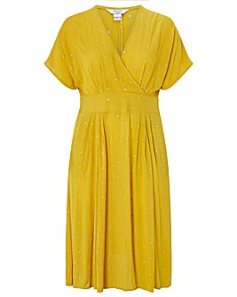 Monsoon Wendy Embroidered Wrap Dress