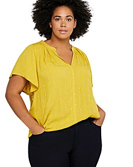 Monsoon Wendy Embroidered Curve Top