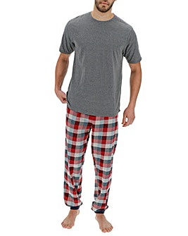 Grey Check Bottom Pyjama Set