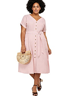 Monsoon Loretta Linen Curve Dress