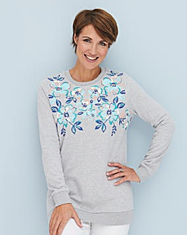 Julipa Leisure Floral Print Sweatshirt