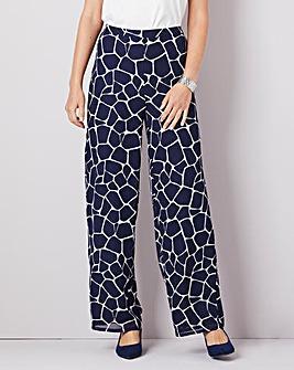 Julipa Print Chiffon Lined Trouser