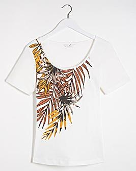 Julipa Black Print Rib Jersey T Shirt