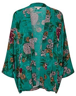 Monsoon Ola Oriental Print Kimono