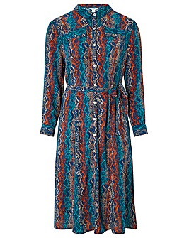Monsoon Nagini Print Shirt Dress