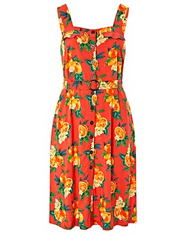 Monsoon Olga Print Pinafore Dress
