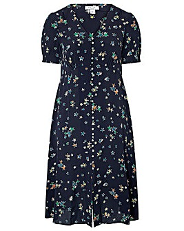 Monsoon Neka Print Tea Dress