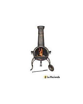 La Hacienda Extra Large Steel Chiminea