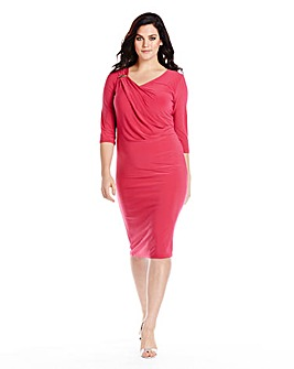 Ruched Shoulder Dress