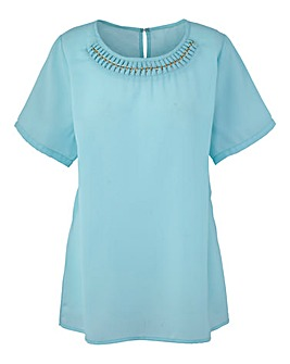 Tailored Chain Detail Blouse
