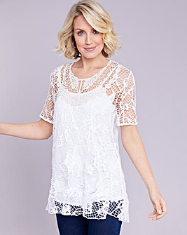 Julipa Jersey Crochet Look Tunic