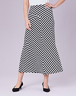 Julipa Cut About Stripey Jersey Skirt