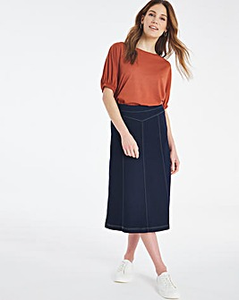 Julipa Jersey Denim Look Skirt 29
