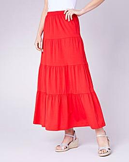 Julipa Tiered Jersey Skirt