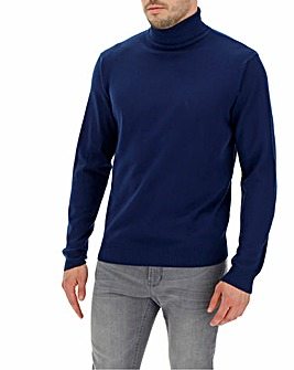 Royal Blue Roll Neck Jumper