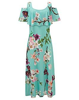 GRACE Frill Hem Maxi Dress