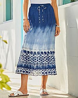 Julipa Tie Dye Print Skirt