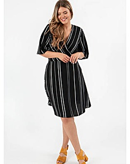 Lovedrobe GB Satin Monochrome Wrap Dress