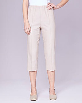 Julipa Stone Crop Linen Mix Trousers