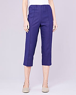 Julipa Crop Linen Mix Trousers