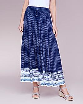 Julipa Crinkle Border Print Skirt