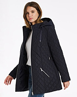 Julipa Longline Padded Jacket with Belt