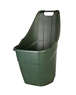 Ward Green Plastic Wheelbarrow - 55L