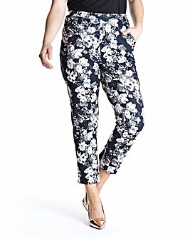 Edit Floral Print Scuba Trouser with Pockets