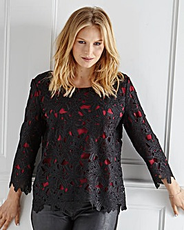 Mark Heyes Lace Blouse With Contrast Lining