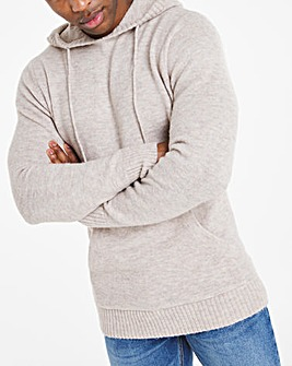 Biscuit Fluffy Recycled Knit Hoodie