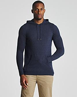 Denim Marl Lightweight Knitted Hoody