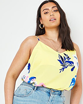 Floral Woven Strappy Cami