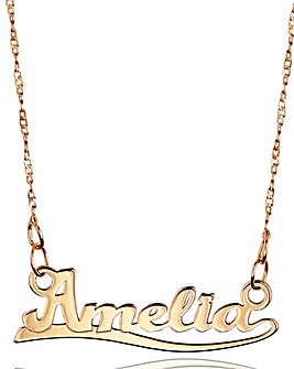 9 Carat Rose Gold 16 Inch Personalised Name Necklace