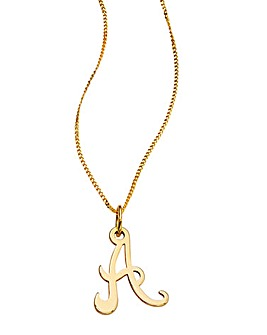 9 Carat Gold Initial Necklace - 16inch