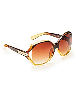 Metal Trim Oversized Sunglasses
