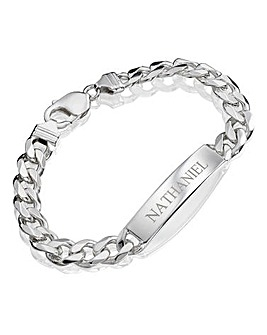 Gents Personalised 1oz Sterling Silver ID Bracelet