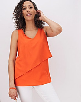 Deep Orange Layered Vest