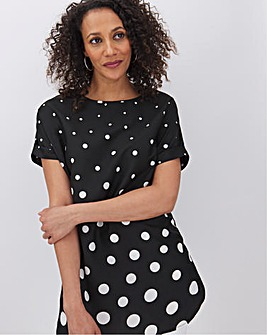 Graduated Spot Print Boxy Top