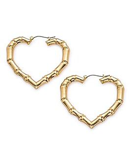 Bamboo Heart Earrings