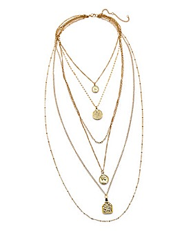 61387f5aecab4 Layered Charm Necklace