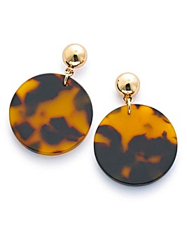 Resin Tort Mini Disc Earrings