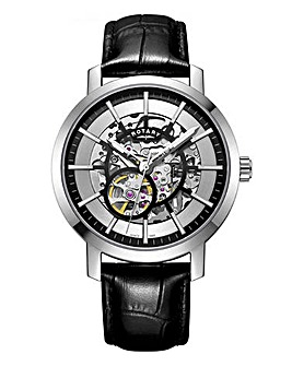 Rotary Gents Leather Strap Watch