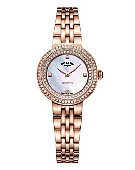 Rotary Ladies Rose Tone Bracelet Watch